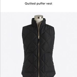 JCREW XS quilted puffer vest brand new!